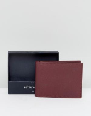 Peter Werth Бордовый бумажник. Цвет: красный