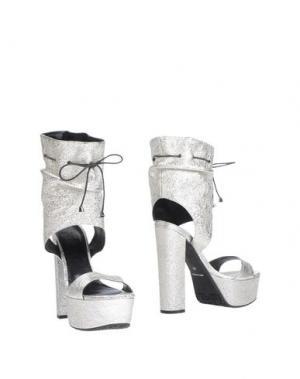 Полусапоги и высокие ботинки TIFFI. Цвет: серебристый