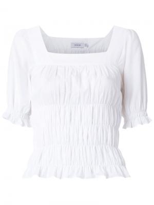 Блузка со сборками Isolda. Цвет: белый