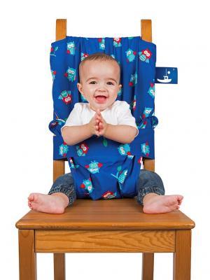 Дорожный детский стульчик Totseat. Цвет: синий, белый, голубой, красный