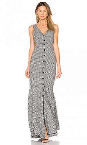 Макси платье с рисунком в клеточку judith Marissa Webb. Цвет: черный