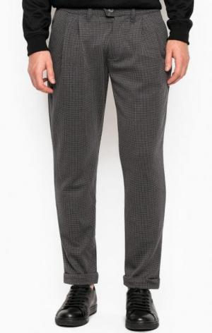 Трикотажные зауженные брюки ALCOTT. Цвет: серый