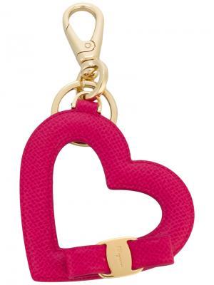 Брелок в виде сердца Vara Salvatore Ferragamo. Цвет: розовый и фиолетовый