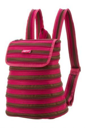 Рюкзак ZIPPER BACKPACK ZIPIT. Цвет: розовый, коричневый
