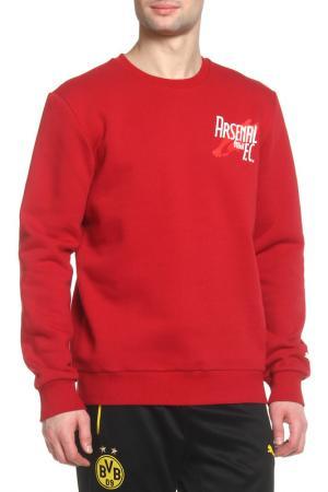 Свитшот Puma. Цвет: красный