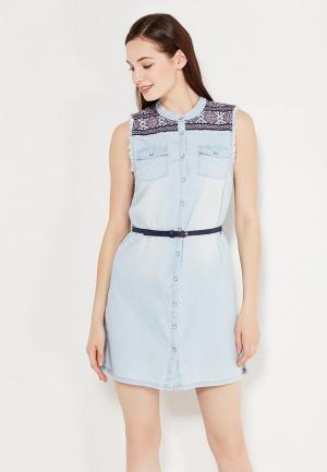 Платье Pepe Jeans. Цвет: голубой