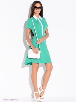 Платье Colambetta. Цвет: зеленый, белый