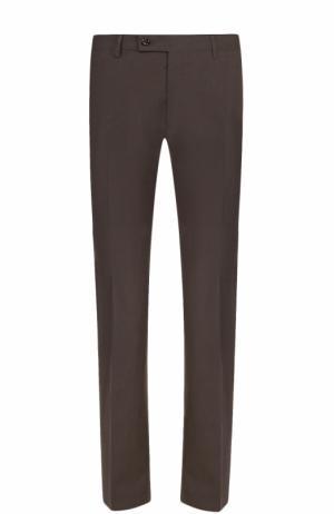 Хлопковые брюки прямого кроя Berwich. Цвет: хаки