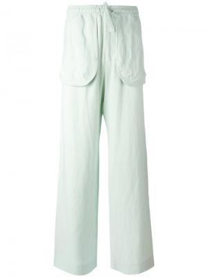 Прямые брюки с карманами Qasimi. Цвет: зелёный