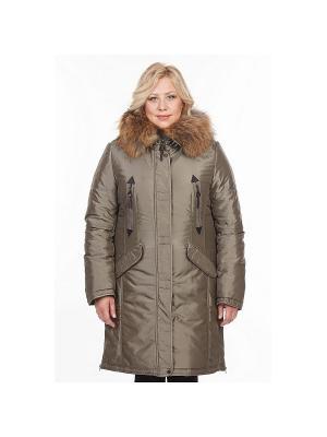 Пальто DEFREEZE. Цвет: оливковый