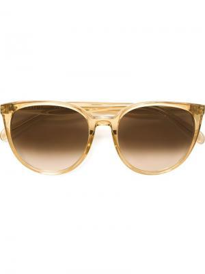 Солнцезащитные очки с оправой кошачий глаз Céline Eyewear. Цвет: жёлтый и оранжевый