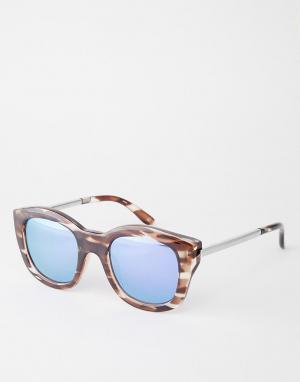 Le Specs Зеркальные солнцезащитные очки Runaways Luxe. Цвет: коричневый