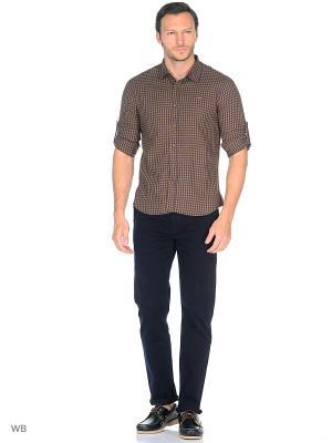 Рубашка CLIMBER. Цвет: коричневый
