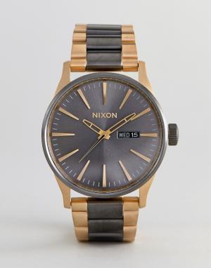 Nixon Часы A356 Sentry SS. Цвет: золотой