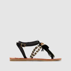 Сандалии с перемычкой между пальцами, на плоском каблуке, MELROSE COOLWAY. Цвет: каштановый,черный