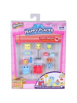 Игровой набоор для декора Happy Places Петкинс  Щенки гостиной Moose. Цвет: розовый