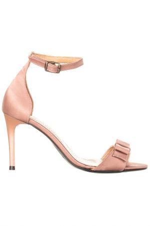 Босоножки на каблуке EVA LOPEZ. Цвет: бежевый