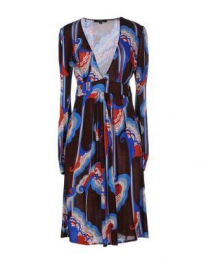 Платье до колена T-BAGS. Цвет: коричневый