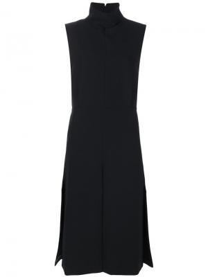 Платье с высоким воротником Toteme. Цвет: чёрный