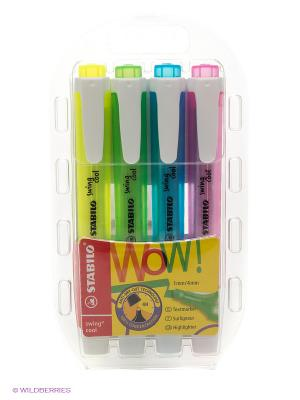 Набор маркеров, 4 шт. Stabilo. Цвет: желтый, голубой