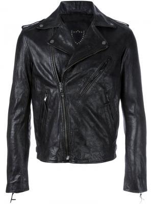 Байкерская куртка St. Louis Htc Hollywood Trading Company. Цвет: чёрный
