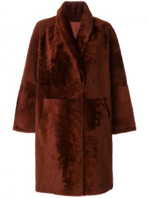 Oversized mid-length coat Sprung Frères. Цвет: красный