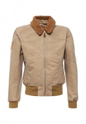 Куртка утепленная Denim & Supply Ralph Lauren. Цвет: бежевый