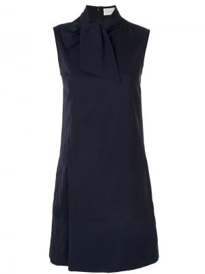 Расклешенное платье без рукавов Victoria Beckham. Цвет: синий