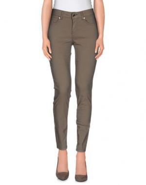 Повседневные брюки BREBIS NOIR. Цвет: хаки