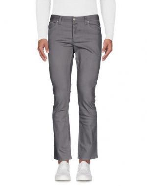 Джинсовые брюки FALLEN. Цвет: серый