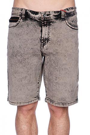 Джинсовые мужские шорты  Mustaine Walkshort Vintage Black Globe. Цвет: серый,черный