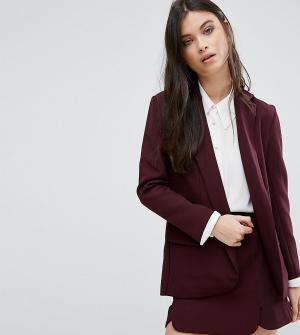 Alter Petite Приталенный пиджак. Цвет: красный