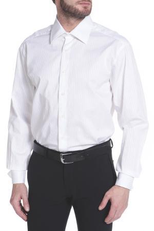 Рубашка Dormeuil. Цвет: белый, белая полоса