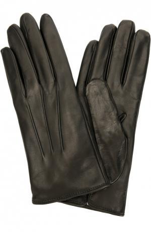 Кожаные перчатки с подкладкой из кашемира Sermoneta Gloves. Цвет: черный