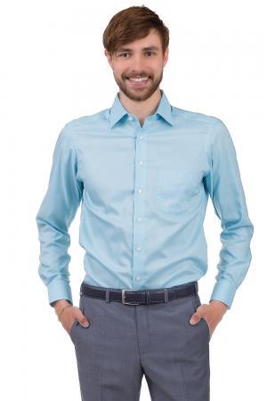Рубашка с длинным рукавом Olymp. Цвет: голубой