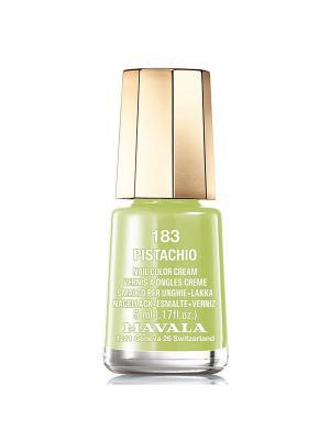 Лак для ногтей тон 183 Pistachio Mavala. Цвет: светло-зеленый