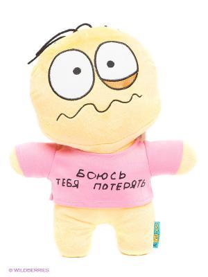 Мягкая игрушка Смайл MAXITOYS. Цвет: желтый, розовый
