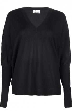 Вязаный свитер Acne Studios. Цвет: синий