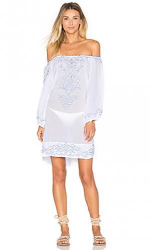 Мини платье abel Poupette St Barth. Цвет: белый