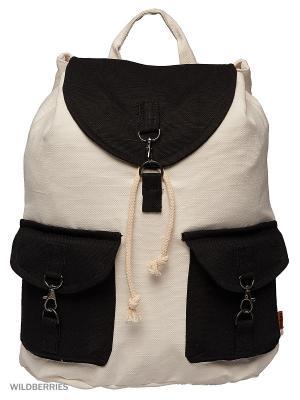 Городской рюкзак TIMBAG. Цвет: черный, оранжевый, белый