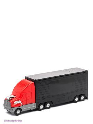 Набор-трансформер Трейлер  - Гоночный трек Пламенный мотор. Цвет: черный, фиолетовый, красный, желтый, белый