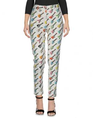 Джинсовые брюки JEREMY SCOTT. Цвет: слоновая кость