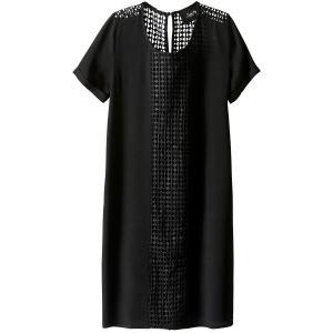 Платье до колен с короткими рукавами SCHOOL RAG. Цвет: черный