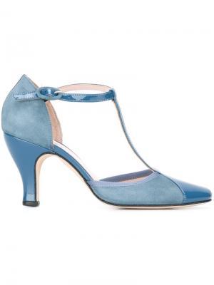 Туфли с Т-образным ремешком Repetto. Цвет: синий