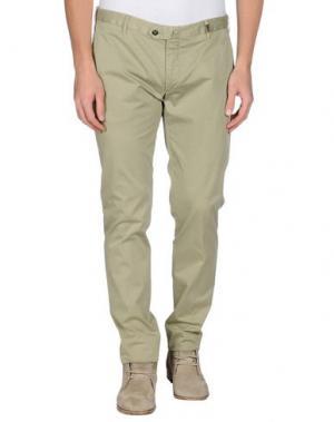 Повседневные брюки GIO ZUBON. Цвет: зеленый-милитари
