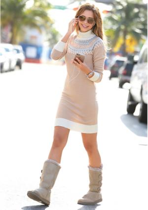 Платье Venca. Цвет: бежевый