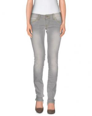 Джинсовые брюки DORALICE. Цвет: светло-серый