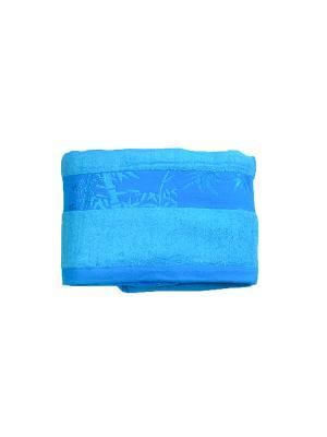 Полотенце шелковистый бамбук 70х140 La Pastel. Цвет: голубой