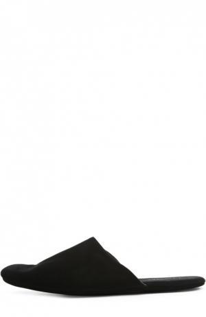 Домашние замшевые туфли Homers At Home. Цвет: черный