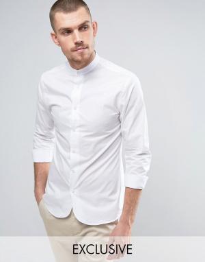 Noak Зауженная рубашка в стиле ретро с закругленным низом. Цвет: белый